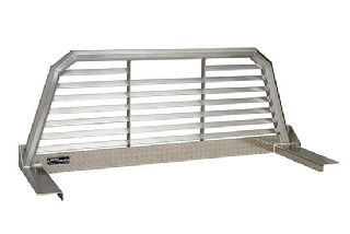 Louvered Cab Rackback Racks Truck Back Rack Chrome