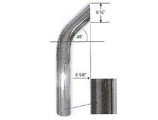 5 Quot Bull Horn Style Plain Od Bottom Chrome Stack Exhaust