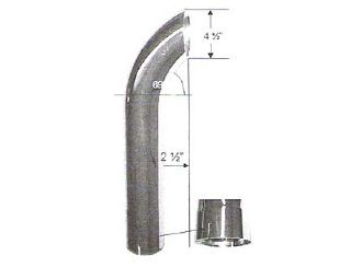 4 Quot Curved Extension Flared Id Bottom Chrome Stack Exhaust