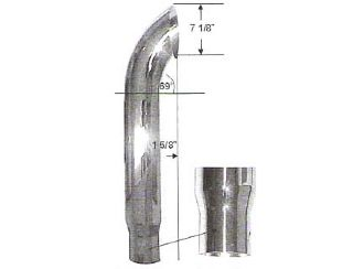 6 Quot Curved Extension 5 Quot Od Reduced Chrome Stack Exhaust